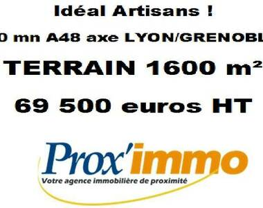 Vente Terrain 1 600m² Le Grand-Lemps (38690) - photo